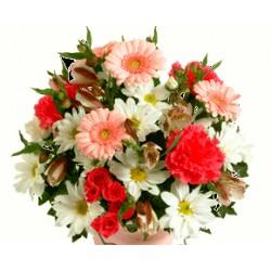 Κασπώ με Τριαντάφυλα Ζέρμπερες - Χρυσάνθεμα