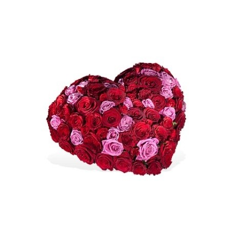 Ηeart with 100 roses