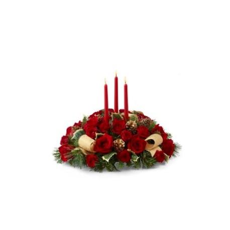 Σύνθεση Χριστουγέννων με τριανταφυλλα