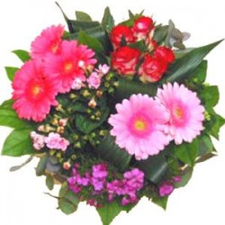 Roses & Gerberas in Greek bouguet