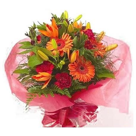Bouquet mix Gerbera and Lilies
