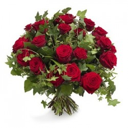 Flowers bouquet red roses Greece