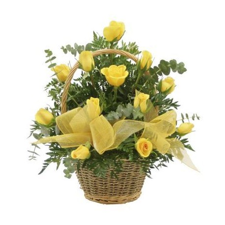 Basket Yellow Roses - Florist Patras city