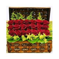 Κασετινα με τριαντάφυλλα κόκκινα - Τιμη ανθοπωλειου Πατρας