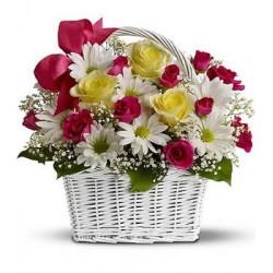 Basket lilies - Roses  - Florist Patras city