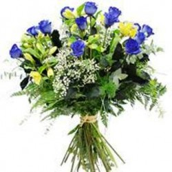 Bouquet blue Roses  - Florist Patras city