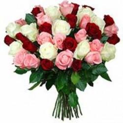Μπουκετο με διάφορα τριανταφυλλα - Τιμη ανθοπωλειου Πατρας