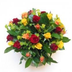 Διαφορα τριαντάφυλλα μπουκετο  - Τιμη ανθοπωλειου Πατρας