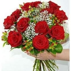 12 κοκκινα τριαντάφυλλα μπουκετο  - Τιμη ανθοπωλειου Πατρας