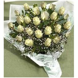 Ανθοδεσμη λευκα Τριανταφυλλα  - Τιμη ανθοπωλειου Πατρας