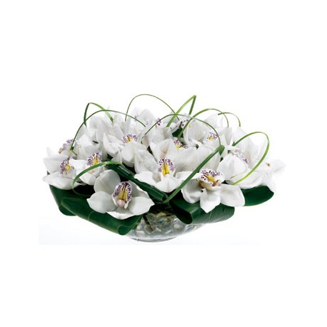 Vase With Orchids Delivery Patras City Milva Flowers