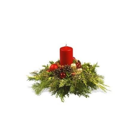 Small Christmas arrangement in Greece