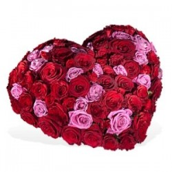 Καρδια με 100 τριανταφυλλα