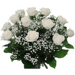 Flowers bouquet white roses
