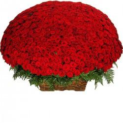 Καρδια με 1001 κοκκινα τριανταφυλλα