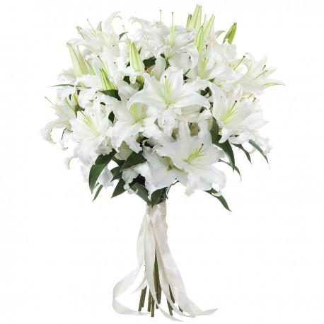 White oriental in bouquet