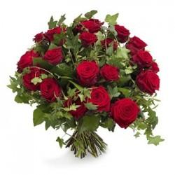 Μπουκετο με κοκκινα τριανταφυλλα