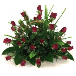 Flower basket red roses milva